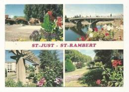 Cp, 42, Saint-Just-Saint-Rambert, Multi-Vues, Voyagée 1989 - Saint Just Saint Rambert