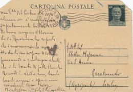 "ROMA  /  AGRIGENTO 31.3.1945 - Card_ Cartolina Da Cent. 60 (troncata Sui Lati) - Censura ""A.C.S."" - 5. 1944-46 Luogotenenza & Umberto II"