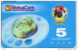 Mongolia,  5 Units, StatusCom, 2 Scans. - Mongolia