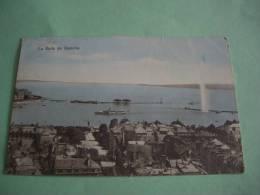 SUISSE GENEVE 1913 LA RADE DE GENEVE POSTKARTE CARTOLINA MAPS - GE Genève