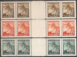 Boemia E Moravia 1939 Nuovo** - Yv.41/3  N°3 Strisce  2 Coppie+interspazio - Boemia E Moravia