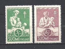 Finlande 1946 N° 312/313 Neufs ** Surtaxe Oeuvres Antituberculeuses Protection De L´enfance - Ungebraucht
