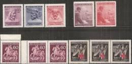Boemia E Moravia 1943 Nuovo** - Yv.101 X3 + 102/04 + 105/06 + 111 X3 - Boemia E Moravia