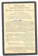 Faire-part De Décès De Mde Elisabeth COHEUR épouse De Mr. H. Stévart - Fex-le-Haut-Clocher 1844/1905(sf65) - Obituary Notices