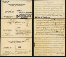 A1298) POW Kriegsgefangenenpost 3 Karten Aus Italien 1945/1946 Nach Deutschland - Altri