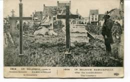 """Ancienne Cp """"En Belgique Après Le Bombardement.Ramscapelle, Le Cimetière""""  Avec Cachet Militaire 1915 - Nieuwpoort"""