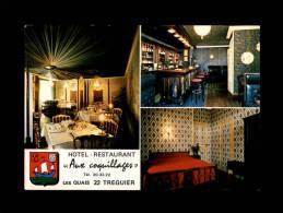 """22 - TREGUIER - Hôtel-Restaurant """"Aux Coquillages"""" - Multi Vues - Bar - Chambre - Tréguier"""