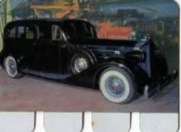 Plaque Metal Publicite COOP, L'auto A Travers Les Ages N°96 Packard 1934 - Autres