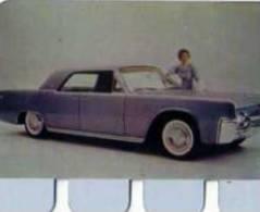Plaque Metal Publicite COOP, L´auto A Travers Les Ages N°47 Lincoln Continental - Brands