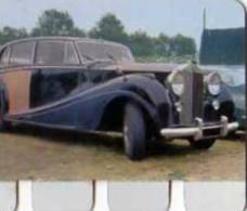 Plaque Metal Publicite COOP, L´auto A Travers Les Ages N°72 Rolls Royce 1962 - Otros