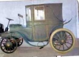 Plaque Metal Publicite COOP, L´auto A Travers Les Ages N°40 Krieger 1906 - Other