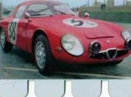 Plaque Metal Publicite COOP, L´auto A Travers Les Ages N° 53 Alfa Romeo - Marque