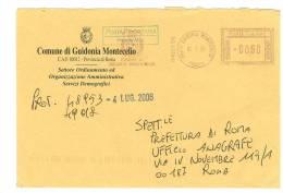 GUIDONIA MONTECELIO  00012  PROV. ROMA  - ANNO 2006 VARI ANNI - AMR  -  TEMA TOPIC COMUNI D´ITALIA - STORIA POSTALE - Affrancature Meccaniche Rosse (EMA)