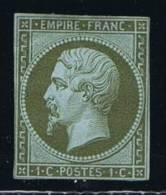 France, 1852 Yv 11 Mi 10, Vert Olive Foncé/dark Olive, Neuf A. Char.