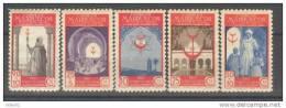 MA275-L2886TARM.Marrucos .Maroc.Marocco.MARRUECOS   ESPAÑOL.1947 (Ed 275/9**)sin Charnela.MUY BONITA - Mezquitas Y Sinagogas