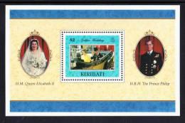 Kiribati MNH Scott #704 Souvenir Sheet $2 Queen And Prince Philip In Open Carriage -  Golden Wedding Anniversary - Kiribati (1979-...)