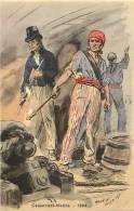 Themes Div - Militaires Militaria -ref D736-illustrateur -maurice Toussaint -canonniers Marins -1804- - Reggimenti