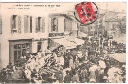 81 TARN CORDES Cavalcade Du 18 Avril 1909, Café - Cordes