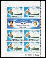 Kiribati MNH Scott #377.-378 Minisheet Of 7 $2 Charles And Diana - Royal Wedding - Kiribati (1979-...)