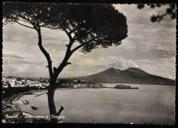 1950 NAPOLI PANORAMA E VESUVIO FG V 2 SCAN TARGHETTA ITALIA RICOSTRUISCE - Napoli