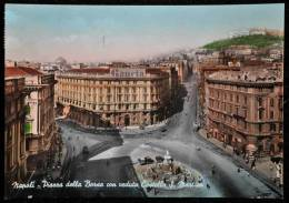 1958 NAPOLI PIAZZA DELLA BORSA FG V 2 SCAN Cartellone Gancia - Napoli