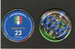 VARIETA'!!!!!! RARITA' - I DISCHETTI Della NAZIONALE AZZURRA -Prodotto Con Licenza Ufficiale FIGC - Figurine In Metallo