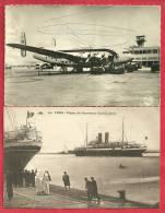 CPA N°20614 / LOT DE 2 CARTES DE TUNIS - EL AOUINA + DEPART DU GOUVERNEUR - Tunisie