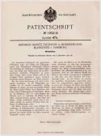 Original Patentschrift - H. Fritzsche In Dockenhuden , Blankenese B. Hamburg , 1901 , Winkelzähne !!! - Historische Dokumente