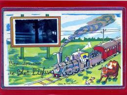 - BLOT L´EGLISE- C/ Menat -  Souvenir  - ILL.Jean De PReissac - Humour - Train - Vache - Zonder Classificatie
