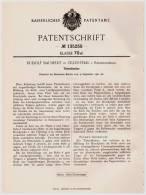 Original Patentschrift - R. Baumert In Zillerthal I. Riesengebirge , 1901 , Tintenlöscher , Tinte !!! - Historische Dokumente