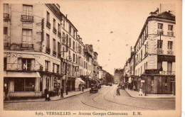 Versailles  Avenue Georges Clémenceau  (scans Recto Et Verso) - Versailles