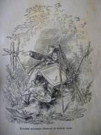 Peintre Et Son Modéle , Gravure Sur Bois De 1893 - Documentos Históricos