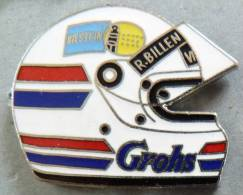 PIN´S CASQUE F1 FORMULA ONE USA PILOTE R.BILLEN GROHS BILSTEIN EGF MFS - F1