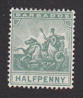 Barbados, Scott# 71, Mint Hinged, Badge Of Colony, Issued 1892 - Barbados (...-1966)