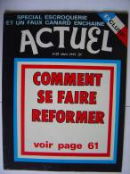 ACTUEL 1ère Formule N° 52- 03/75 - Informations Générales