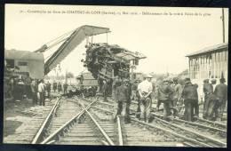 CPA. Catastrophe En Gare De CHATEAU-du-Loir, Le 15 Mai 1910. Déblaiement De La Voie... - Sin Clasificación