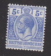 British Honduras, Scott #78, Mint Hinged, King George V, Issued 1913 - British Honduras (...-1970)