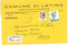 LETINO 81010 PROV. CASERTA - ANNO 1980 - R -TEMATICA COMUNI D´ITALIA - STORIA POSTALE - Affrancature Meccaniche Rosse (EMA)