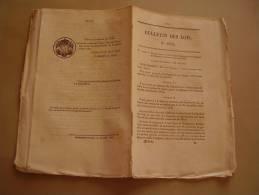 Bulletin Des Lois: Orgnisation Judiciaire Du Sénégal : St Louis & Gorée. Importation & Transit De Livres. Musique Gravée - Decrees & Laws