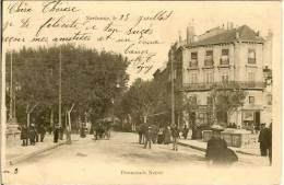 NARBONNE - PROMENADE NEUVE En 1903 - CLICHE TRES RARE - Narbonne