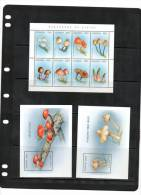 UGANDA,1996,MUSHROOMS,SHEETLET+ 2 S/SHEETS  ,MNH. - Paddestoelen