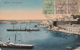Malte -  Port Bâteaux - Fort Lasacaris - Malte