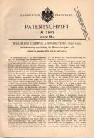 Original Patentschrift - W. Caldwell In Inverkeithing , Schottland , 1901 , Zerkleinerungsmaschine !!! - Tools