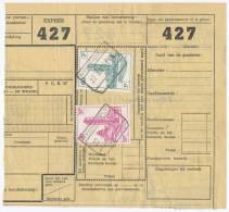 BELGIUM BELGIË BELGIQUE # EPk 302, EPk 315 PARCEL ACCOMPANYING LIST RAILWAY (1961) - Bahnwesen