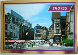 TROYES LA PLACE FOCH - EN CHAMPAGNE - EDITIONS ESTEL - CP VOYAGEE 1998 - Troyes