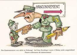Kantonnement Nicht In Ordnung, Militärische Ausbildung Schweiz 1990 - Kasernen