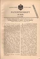 Original Patentschrift - H. Booth In Portland Place , England , 1901 , Staubsauger Für Teppich Und Polstermöbel  !!! - Tools