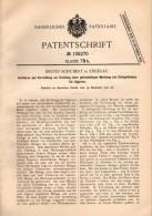 Original Patentschrift - B, Schubert In Striegau , 1901 , Mischung Von Tabak Für Cigarren , Cigarre !!! - Dokumente