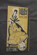 1950 Le Dauphiné Htes Alpes,Drome Isère Plan Guide Touristique Dépliant Publicitaire Grenoble Montélimar Gap Tour Du Pin - Europe