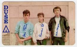 "Pocket Calendar - Yugoslavia, Rock Group ""Duše"" - Tamaño Pequeño : 1981-90"